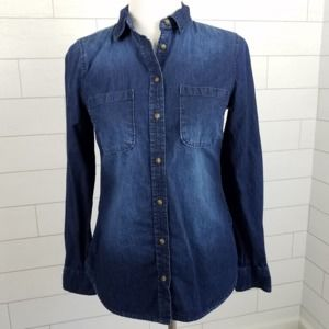 Merona Women's size Small Long Sleeve Denim Shirt